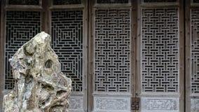 中国人雕刻建筑学的清代木头 图库摄影