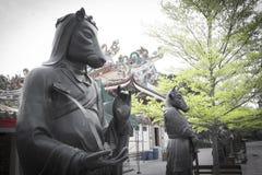 12中国人黄道带雕象 免版税库存照片