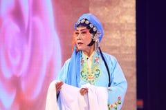 中国人Pingju歌剧表现在剧院 免版税库存照片