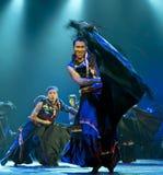 中国伊国民舞蹈演员 库存照片