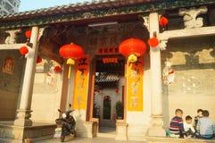 中国传统寺庙大厦 免版税库存图片