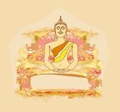 中国传统艺术性的佛教模式 免版税库存照片