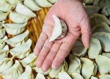 中国传统面团,饺子 库存照片