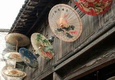 中国传统伞有文本好运 库存照片