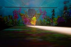 中国传统时装模特儿展示 免版税库存图片