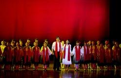 中国传统歌剧演员在阶段执行 库存照片
