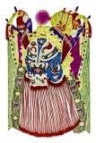 中国传统歌剧面具 库存图片