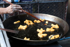 中国传统深深被射击的面包条快餐 库存图片