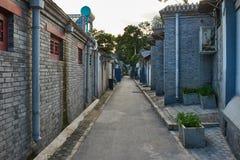 中国传统银锭桥Hutong街道北京奇恩角 库存图片