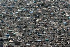 中国住宅区鸟瞰图  免版税库存图片