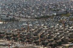 中国住宅区鸟瞰图  库存图片