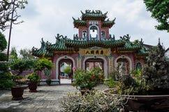 中国佛教寺庙在会安市,越南 免版税库存图片