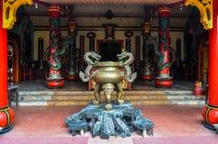 中国佛教寺庙在玛琅,印度尼西亚 免版税库存照片