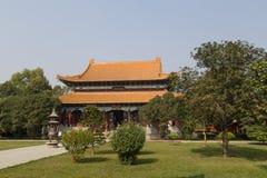 中国佛教寺庙在蓝毗尼,尼泊尔 库存图片