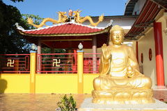 中国佛教菩萨雕象 免版税库存照片