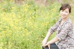 中国愉快的女孩 免版税图库摄影