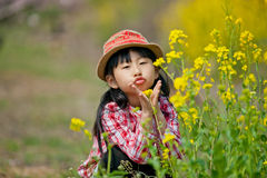 中国俏丽的女孩 免版税库存图片