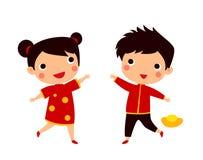 中国儿童春节 向量例证