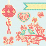 中国元素papercut 库存照片