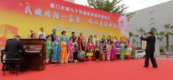 中国全国歌手合唱 库存照片