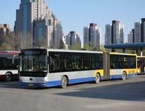 公共汽车在北京 库存照片