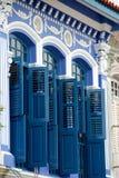 中国典雅的房子界面新加坡 免版税库存照片