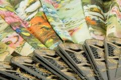 中国典雅的风扇 库存照片