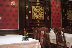 中国内部餐馆 免版税库存照片