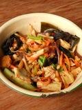 中国冷的素食沙拉 免版税库存图片