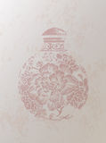 中国减速火箭的样式花瓶背景 图库摄影