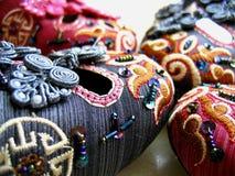 中国刺绣鞋子 免版税库存照片