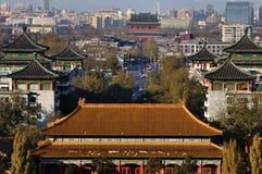 中国北京中央轴鼓塔 库存照片