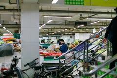 中国北京食品批发市场 免版税库存照片
