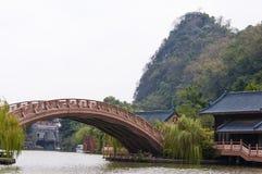 中国南方古老水镇  库存图片