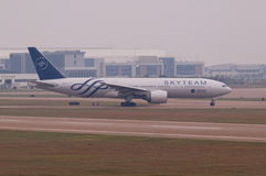 中国南部的航空公司飞机 图库摄影