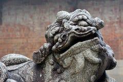 中国历史雕刻家,神的狮子 库存图片