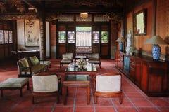 中国古典房子客厅 免版税库存图片