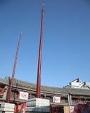 中国古典旗杆样式 库存图片