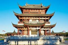 中国古典建筑亭子 免版税库存照片