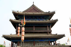 中国古城墙壁和门在羡市 库存照片