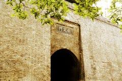 中国古城墙壁和门在羡市 免版税库存图片
