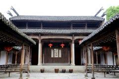 中国古老传统建筑学 免版税库存照片