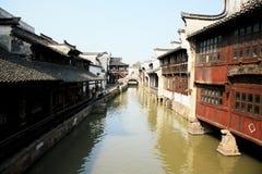 中国古老含水城镇Wuzhen 库存照片