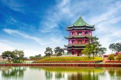 中国古老大厦: 庭院。 免版税图库摄影