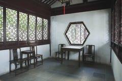 中国古老客厅 免版税库存照片
