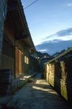 中国古老村庄Nightscene  免版税图库摄影