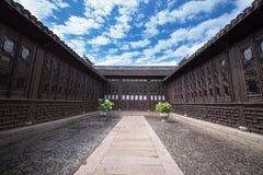 中国古老样式大厦和庭院 图库摄影