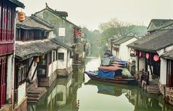 中国古老水村庄 免版税图库摄影