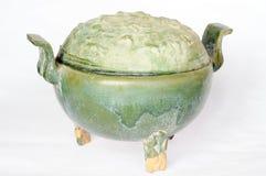 中国古老瓦器罐 免版税库存图片