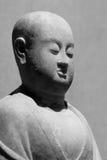 中国古老菩萨雕象 免版税库存照片